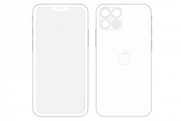 iOS14惊现iPhone12Pro设计图细节小刘海+浴霸四摄