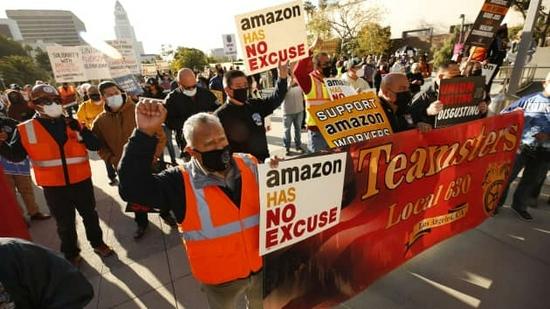 国际卡车司机工会投票支持和资助亚马逊工人运动